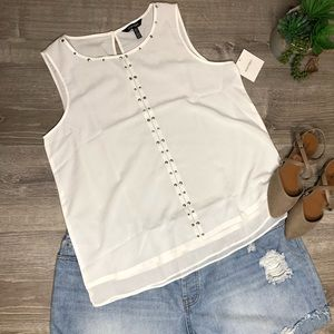 Ellen Tracy NWT white tank top XL